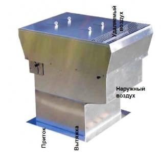 Крышный вентилятор-теплоутилизатор